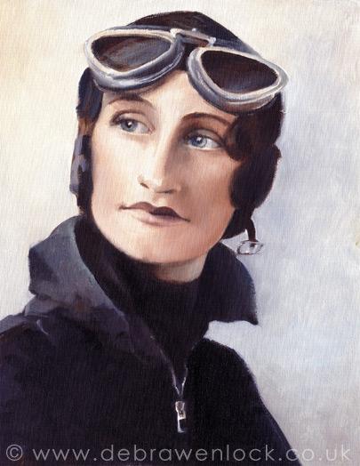 Mrs Elsie Wisdom, oil painting by Debra Wenlock