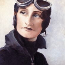 "Mrs Elsie ""Bill"" Wisdom, oil painting by Debra Wenlock"