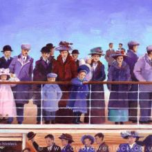 All Aboard - Titanic Painting by Debra Wenlock