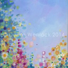 Moonlight Garden, acrylic painting by Debra Wenlock