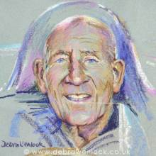 Stirling Moss - oil pastel portrait study by Debra Wenlock
