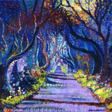 Dark Hedges print - Black Magic by Debra Wenlock