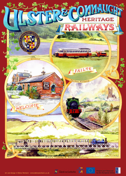 Ulster Connaught Heritage Railways poster by Debra Wenlock