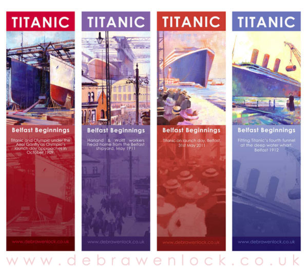 Titanic Bookmarks by Debra Wenlock