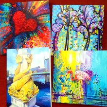 Greetings Cards-Love from the Artist Debra Wenlock