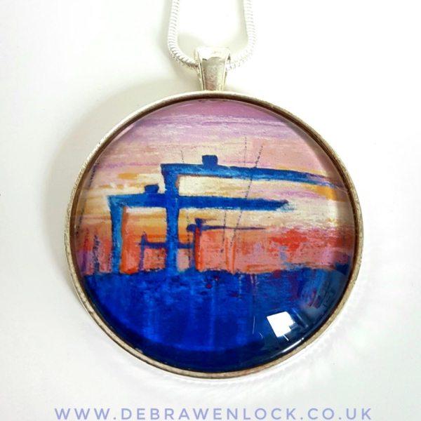 Belfast Pendant - Belfast Sunset Art Pendant, Debra Wenlock