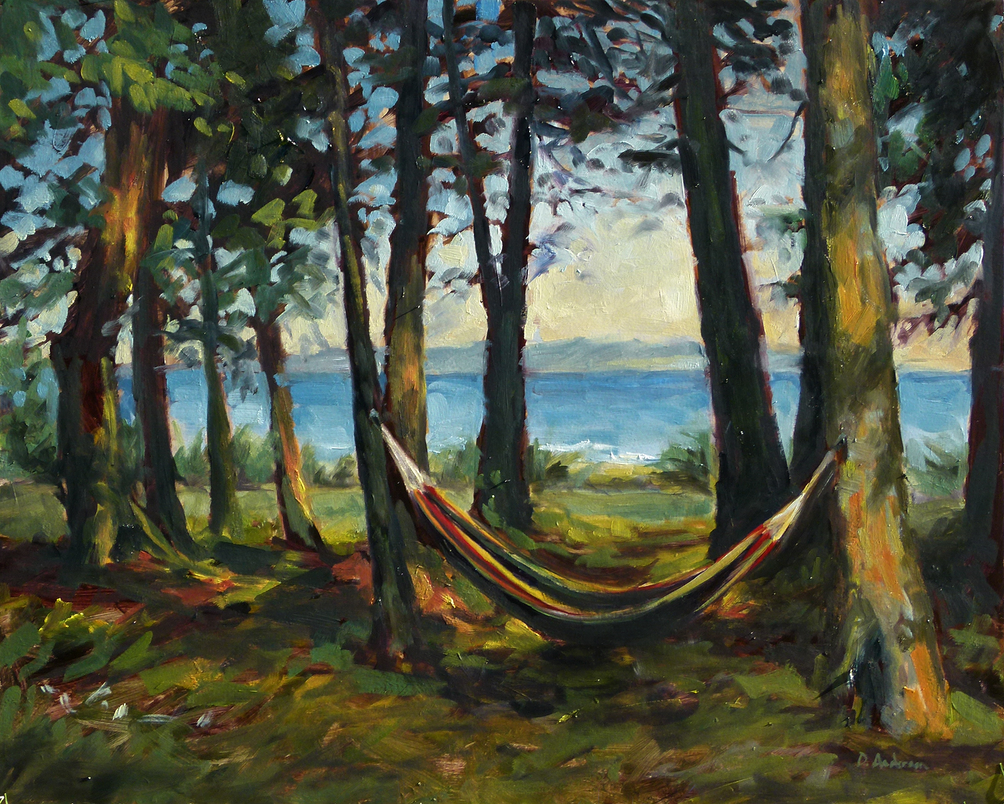 Oil Painting Of A Hammock Deb Anderson Painting