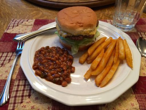 HamburgerBeansFrenchFries