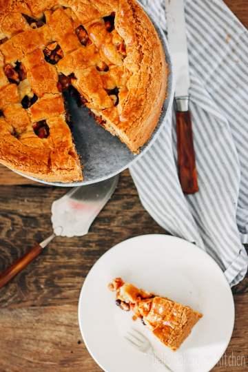 appeltaart met cranberries