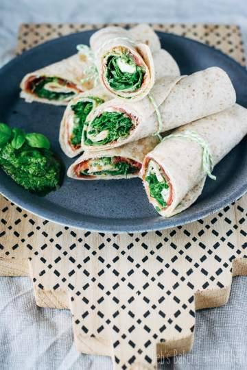 wraps met ham en buffelmozzarella