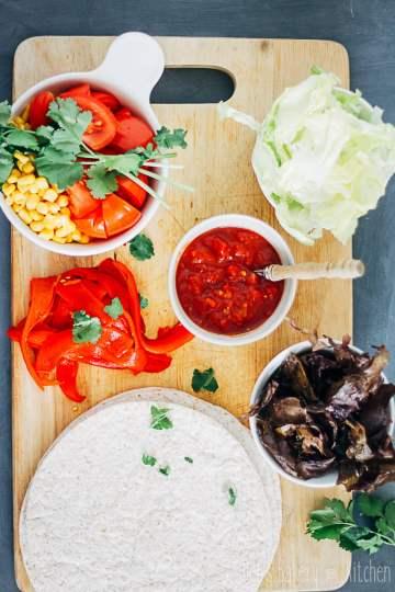 snelle tortilla met groenten en zeewierbacon
