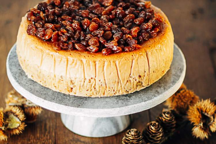 cheesecake met geitenkaas, rozijnen en liqor 43