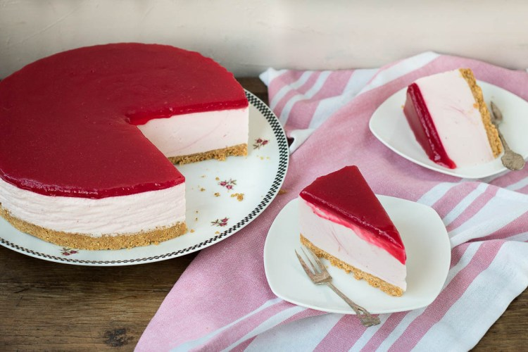 no bake appel cranberry cheesecake