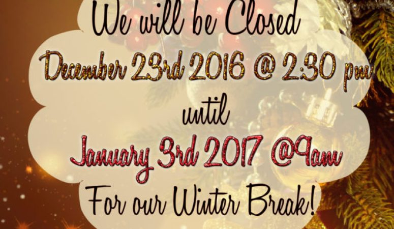 Debutantes School will be Closed for our Winter Break 12.24.16 until 01.03.17 at 9am!