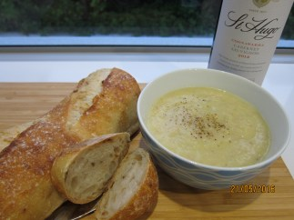 Blog May16 leek soup, berry crumble, omelette 068