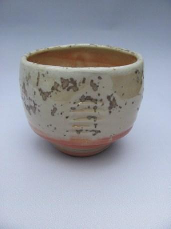 Wood fired porcelain, shino, wood ash