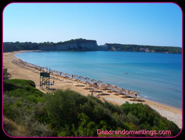 Gerikas beach on Zakynthos is one of the the beaches that the loggerhead turtles nest on.