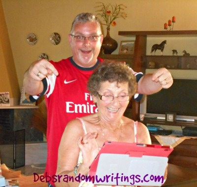 Mum tickled pink with her Lenovo tablet