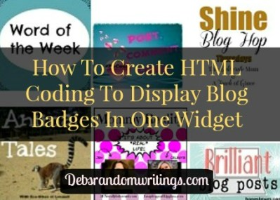 HTML Coding To Display Blog Badges Neatly In A Sidebar