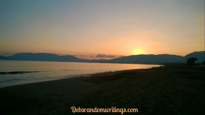 Lagana beach at sunset