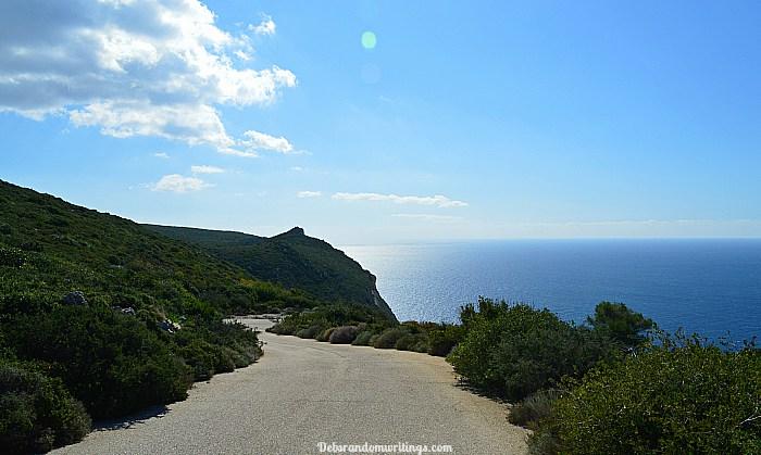 cliff climbing at Agalas