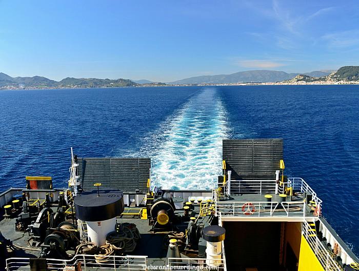 Leaving Zakynthos on a ferry boat