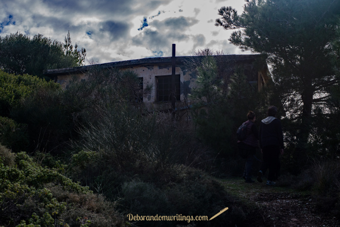 The old quarry building on Skopos, Zakynthos is quite eerie looking.