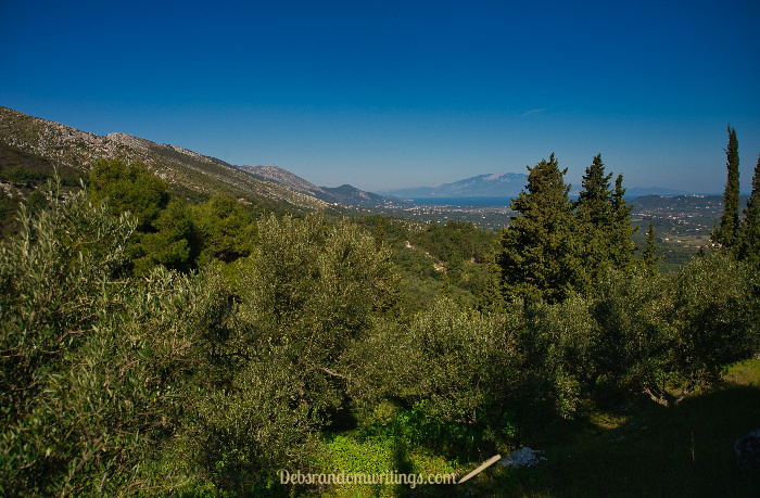 That's Kefalonia, our neighbouring island, that you can see in the distance.