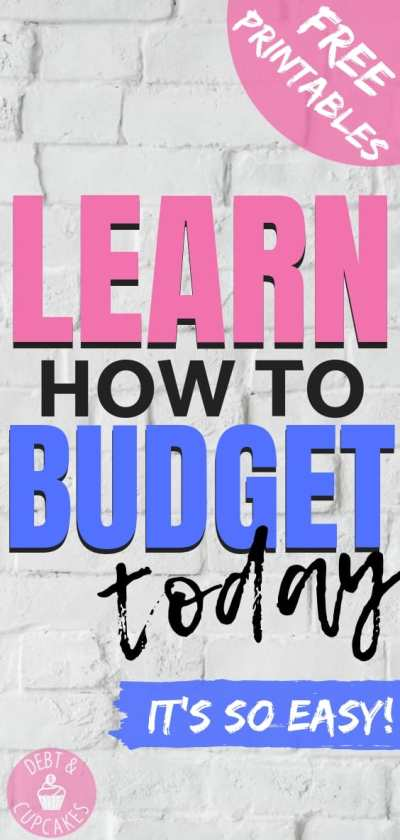 Learn how to budget today