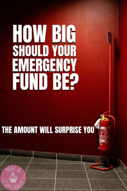 How big should your emergency fund be while you're in debt