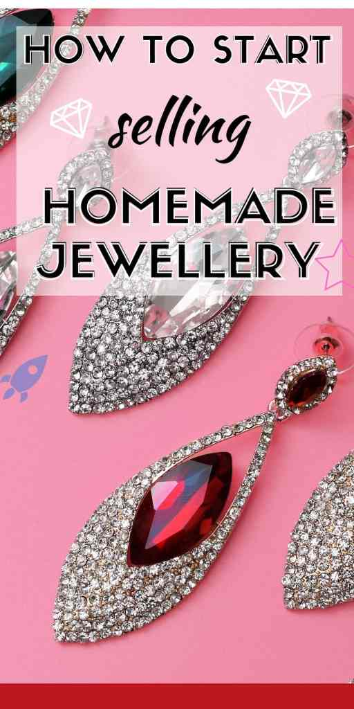 How to start a homemade jewellery business from home. Making your own jewellery can earn you big bucks, so let your creative side come through and earn some extra cash with this work from home side hustle! #handmadejewellery #handmadejewelry #makemoney #sellingonline #extracash