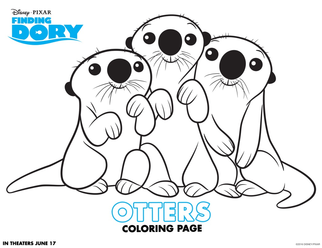 Have Fun With Finding Dory Coloring Pages And Activity Sheets Findingdory