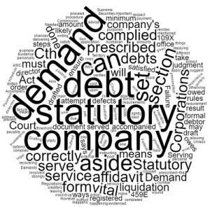 statutory demand debt recovery qld