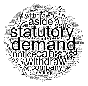 how to withdraw statutory demands