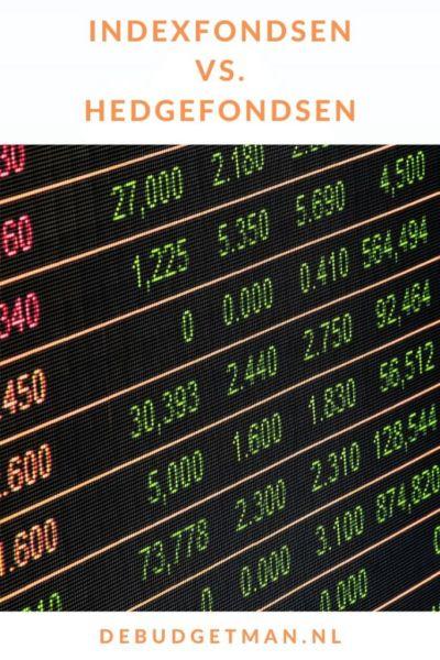 Indexfondsen vs. hedgefondsen #geld #beleggen #indexfunds #DeBudgetman