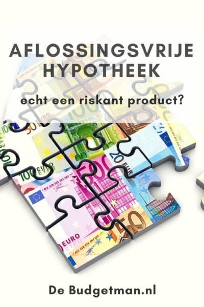 aflossingsvrije hypotheek, echt een riskant product; debudgetman.nl