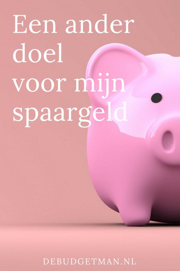 Een ander doel voor mijn spaargeld; debudgetman.nl