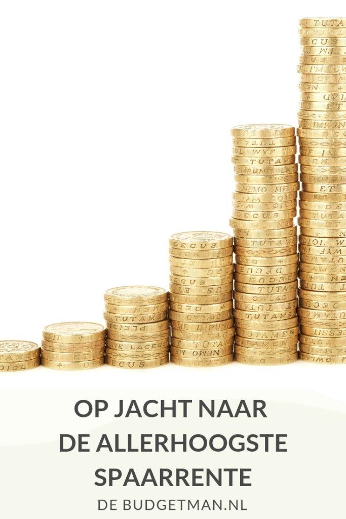 Op jacht naar de allerhoogste spaarrente; DeBudgetman.nl