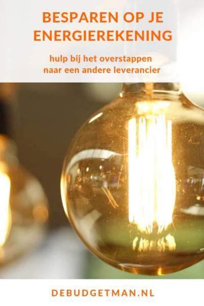 besparen op je energierekening #budget #geld #energie #DeBudgetman