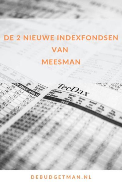 De 2 nieuwe indexfondsen van Meesman #beleggen #geld #DeBudgetman