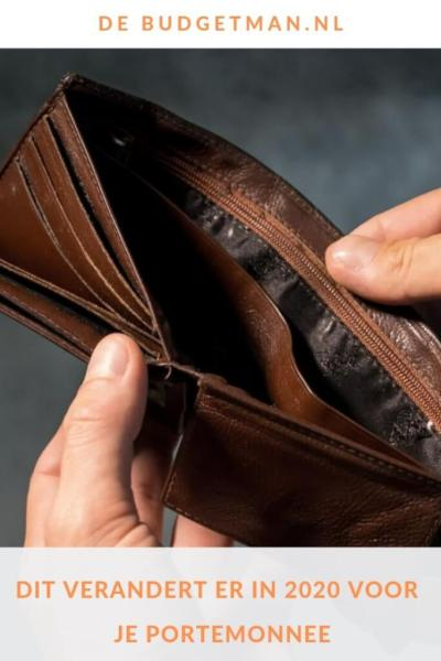 Dit verandert er in 2020 voor je portemonnee #belasting #budget #beleggen #wonen #Prinsjesdag #DeBudgetman