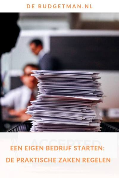 Eigen bedrijf starten: praktische zaken #ondernemen #briefpapier #DeBudgetman