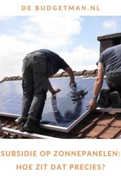 subsidie voor zonnepanelen #besparen #energie #DeBudgetman