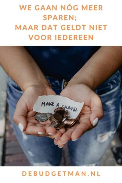 Meer sparen, maar niet iedereen #sparen #budget #geld #DeBudgetman