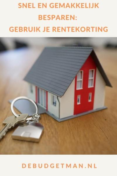 Snel en gemakkelijk besparen: gebruik je rentekorting #hypotheek #wonen #rentekorting #geldbesparen #DeBudgetman