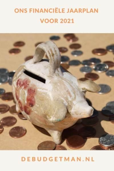 Ons financiële jaarplan voor 2021 #geld #sparen #beleggen #DeBudgetman