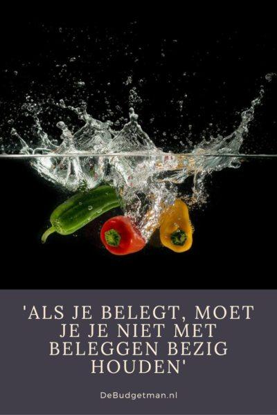 Als je belegt, moet je je niet met beleggen bezig houden. DeBudgetman.nl