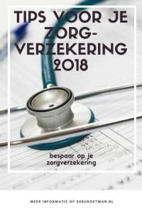Tips voor je zorgverzekering 2018 debudgetman.nl