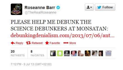 Roseanne calls for backup