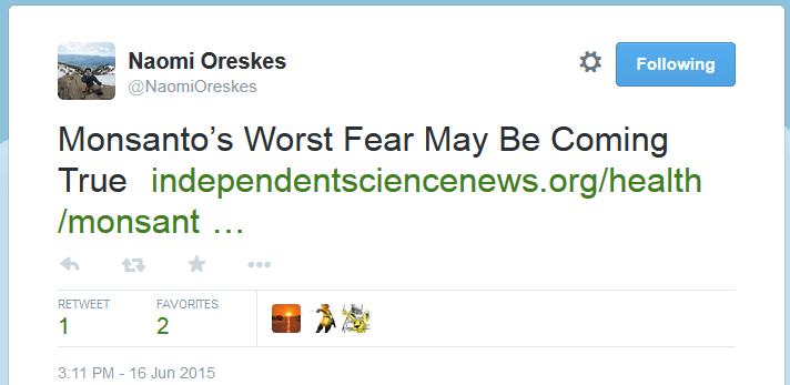 Oreskes on Twitter 3
